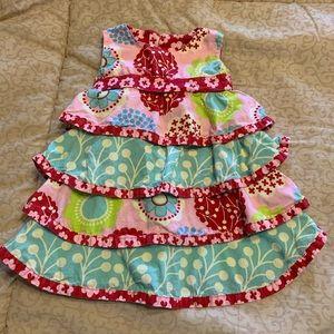 Jelly the Pug Sleeveless Ruffled Dress-size 12 mo.